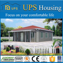 Low cost fiexible design prefabricated wood frame house with foamed cement board