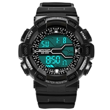 Kids wrist watch multifunction digital LED sport 50 meter waterproof electronic analog quartz watches for boy girl children gift