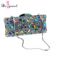 WZB001 Stock in sale Best price newest Popular Elegant Ladies Bling party cheap wholesale clutch crystal rhinestone evening bag