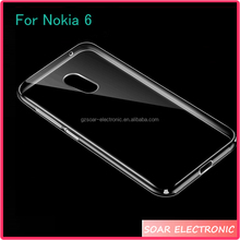 [Soar]Newest !!! 2017 Ultra Thin High Clear Transparent TPU Soft Gel Silicone Cover Case For Nokia 6