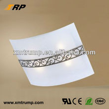 Latest glass decoration matching wall and ceiling lights