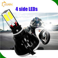 Motorcycle Accessories H4 H6 H7 Led Headlight Cob 24w Led Motorcycle Headlight For Motorcycle Part