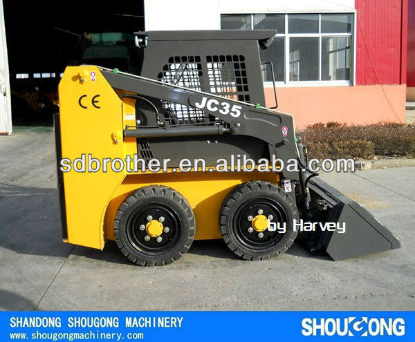 JC35 500kg Mini Skid steer loader Bobcat loader with CE GOST