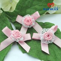 china supplier handmade decorative jute flowers for dress