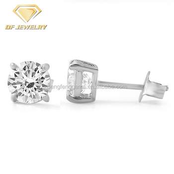 Fashion Wholesale Jewelry Customized Shape Gemstone Silver Stud Earrings for Women