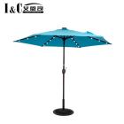 LED light solar power umbrella garden outdoor umbrella parasol