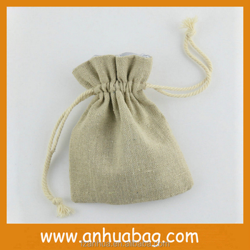 Environment-friendly Customize Wholesale hemp drawstring bag