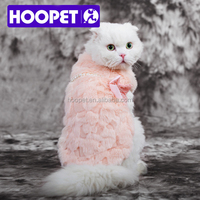 Hoopet luxury pink mink dog fur coat dog online wholesale