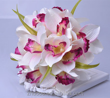 Orchid Latex Artificial Flowers Soap Flower Bouquet for Bride Holding in the Wedding or Home Decoration