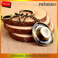 Fashion Vintage Beautiful Cowboy Hat Keychain Gifts Key Ring Bag Key Chain