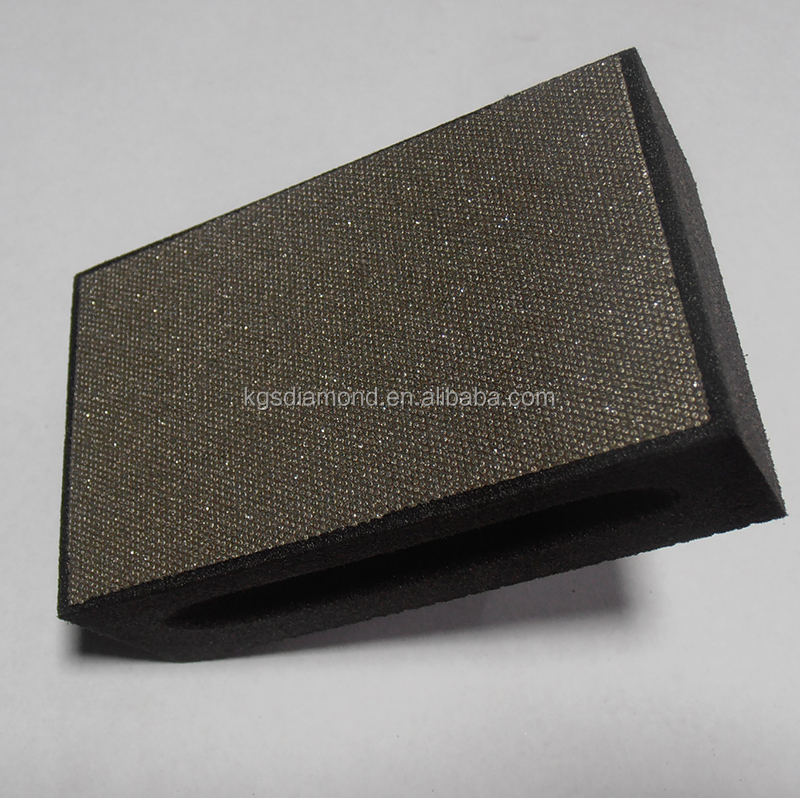 Diamond abrasive tool glass compounds and granite grinding and polishing buffing hand pads
