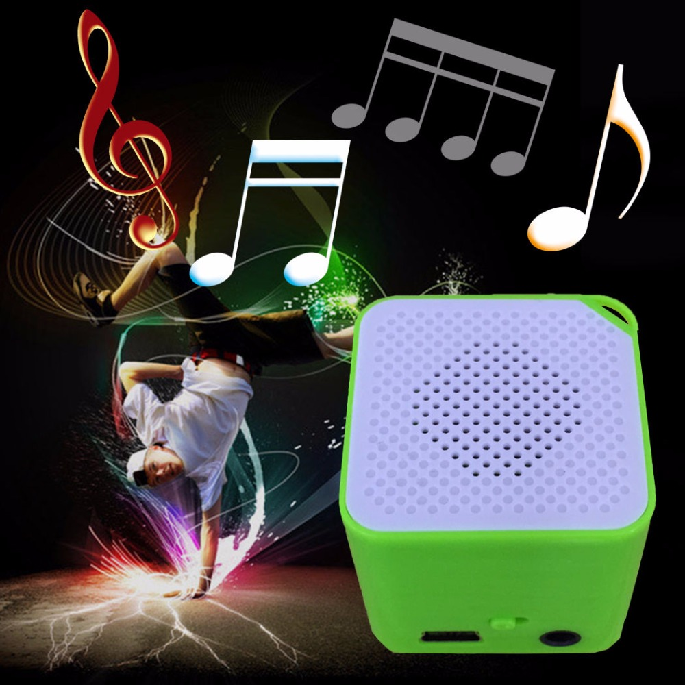 Classic Digital USB MP3 Music Player Support SD TF Card Small Square Cube MP3 Player Music Good Gift