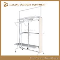 good quality Clothes display rack,clothes shop counters,modern shop counter design for garment store/warehouse racks shelf