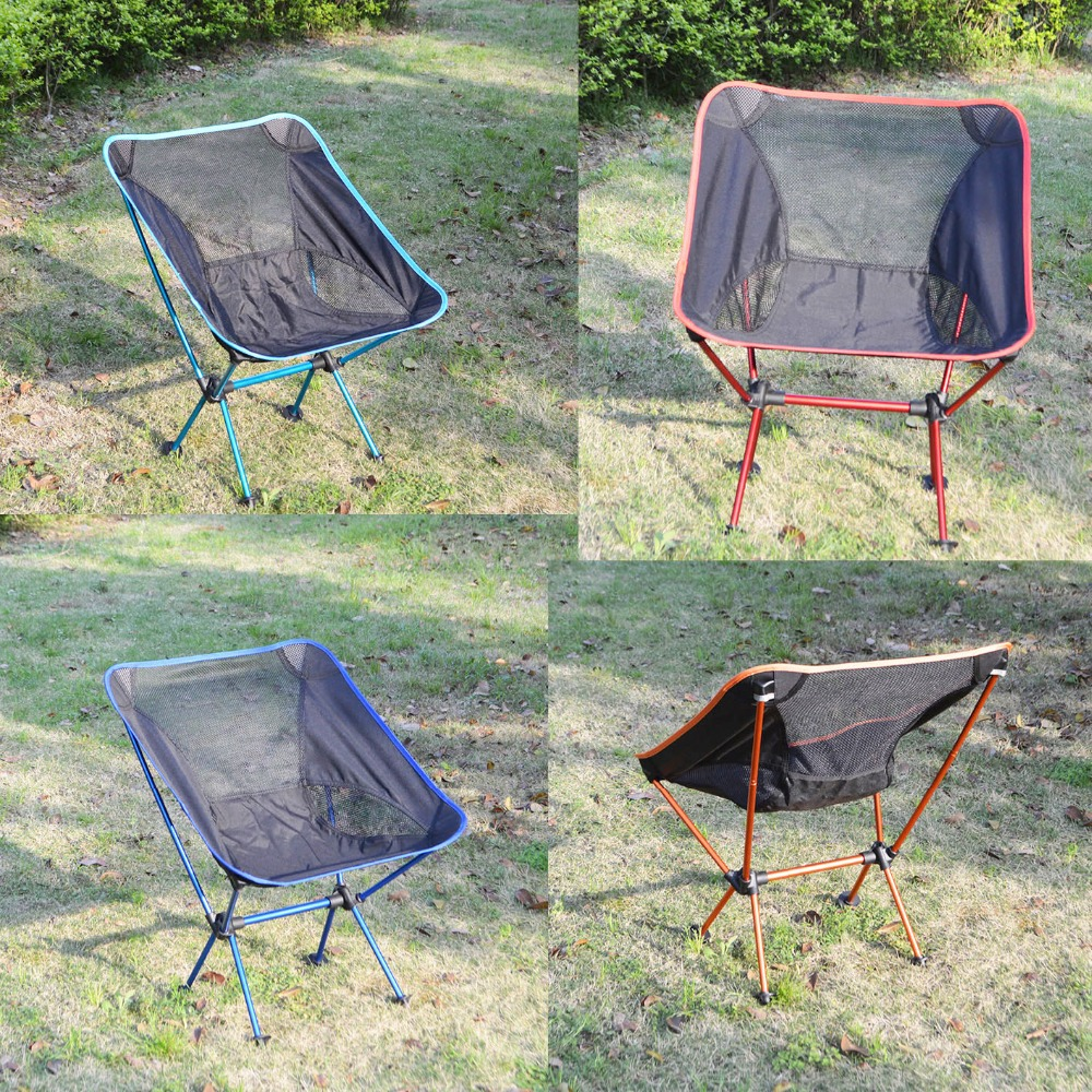 New fashion outdoor portable folding moon canvas cover picnic fishing camping hiking lightweight chair