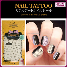 Joyme new hot sale simple flower nail tattoos water transfer custom nail wraps nail art