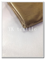white sprinkle gold bronzed polyester interlock fabric