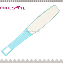 Colourful sandpaper foot file with plastic handle,pedicure foot file,smoother foot file