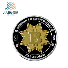 Custom gold plating souvenir coin two tone metal coin bitcoin replica coins