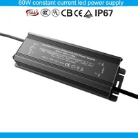 60W 2.1a led power supply waterproof constant current led street light driver