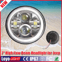 "New Arrival, 48W super bright High low beam motorcycle led headlight 7 inch, 7"" round led, 7inch led headlight"