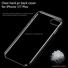 hot selling for iphone 7 case back housing transparent clear hard plastic cover