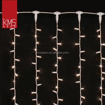 commercial connectable curtain lights with T connector for wedding