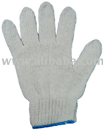 Knit cotton glove