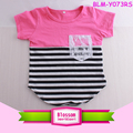 Summer Unisex Girls & Boy Short Sleeve Baseball Tee Curve Hem T Shirt Stripes Kids Children Two Tone Colour Block T Shirt