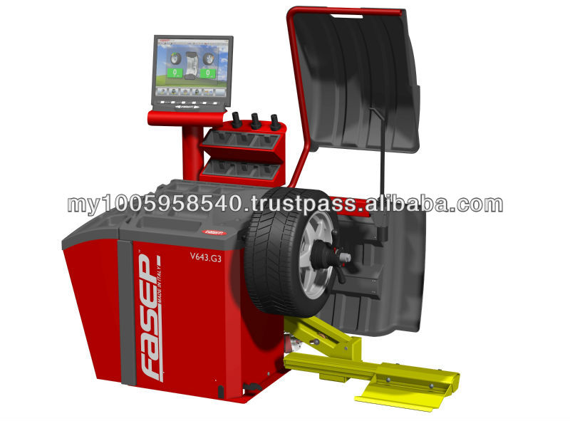Video high level Wheel Balancer V643 from fasep