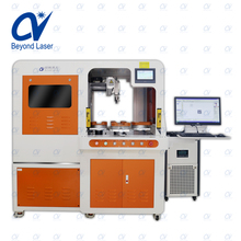 Fully cnc auomatcly rotary worktable 1.5W 3W 5W PCB qr code UV laser marking machine system