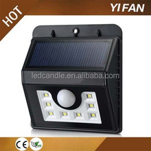 New Pir 8led Small Solar Security Led Solar Motion outdoor Sensor wall Light
