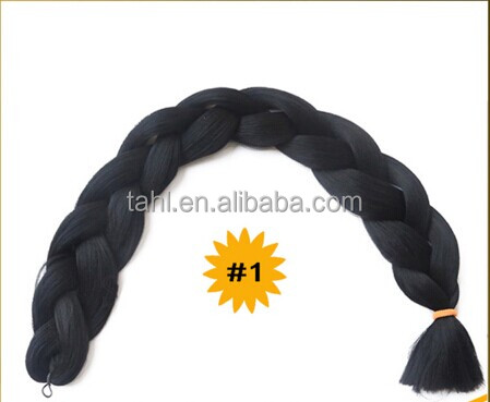 Wholesale best quality ombre braiding hair synthetic hair extension more color to choose