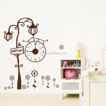 Removable home decor wall sticker clock