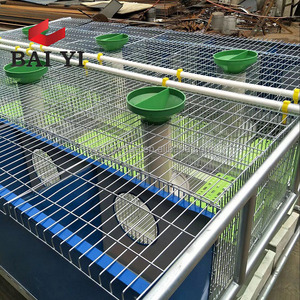 Industrial Metal Rabbit Cage For Sale Cheap And Automatic Rabbit Farm