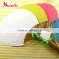 Wedding Chinese Custom Bamboo Paddle Paper Fan