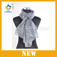2014 spring chain printed scarf , scarf trading inc