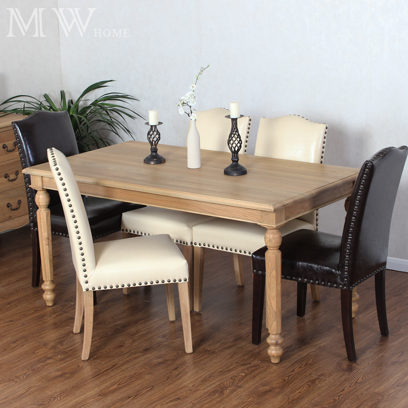 oak dining table set 6 chairs