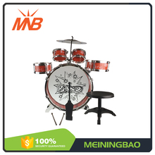 Preschool kids fashionable percussion music jazz toy drum with sticks
