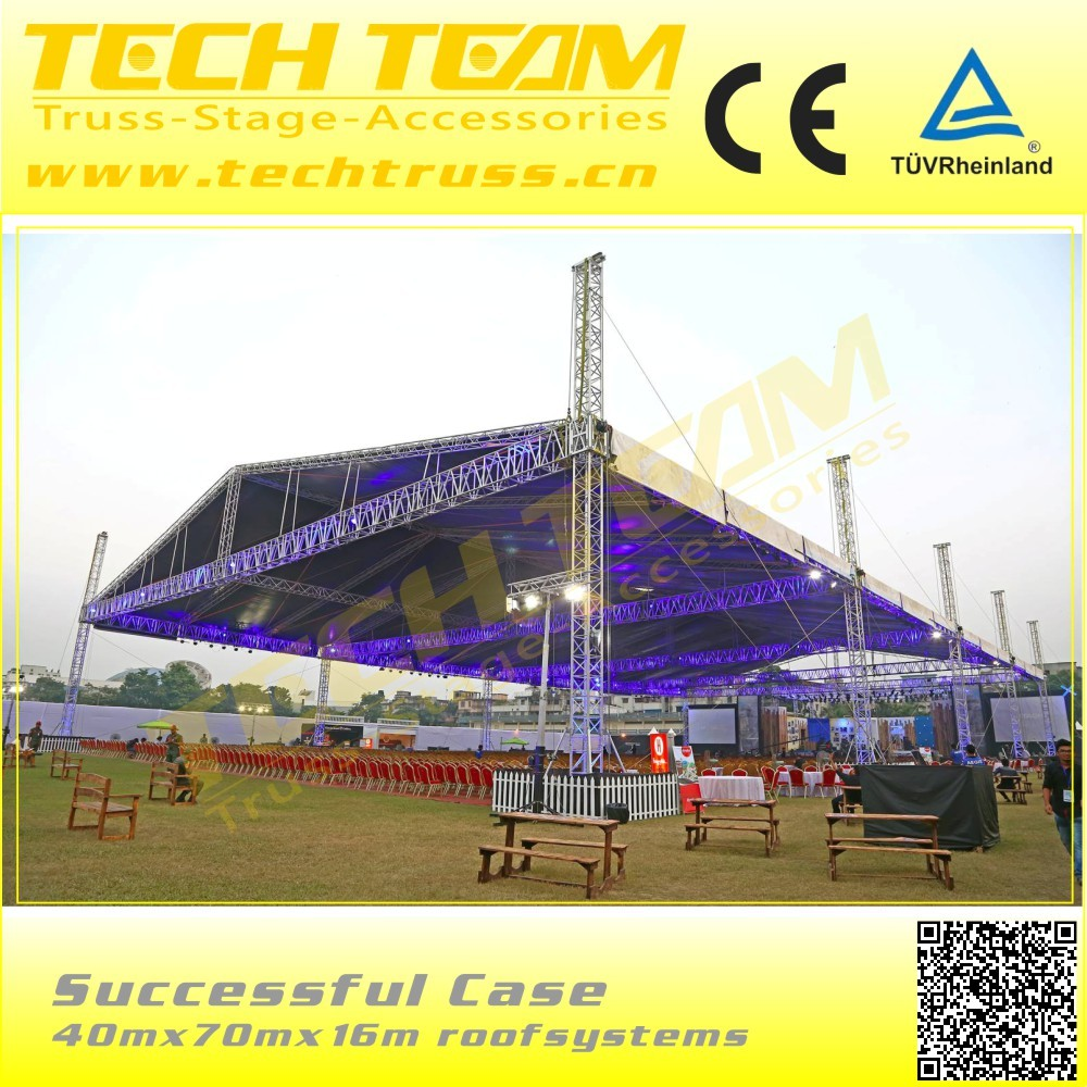 D76-RS aluminum rectangle truss , used outdoor aluminum truss