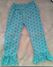 Wholesale Formal Baby Girls Trousers Pants Design For Girls With Plain Polka Dots Pants
