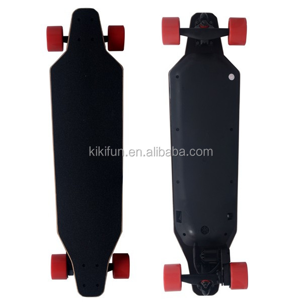 Easy motion lithium battery controlled electric longboard, new fashion products 4 wheel electric skateboard longboard wholesale