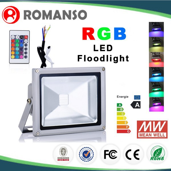 New product led light of china waterproof outdoor wall mounted led rgb floodlight