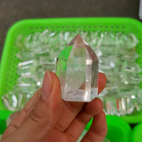Top Quality 3~5cm Faceted Small Clear Crystal Prisms for Sale