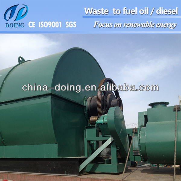2013 Price Discount Waste Recycling Machine Tire Plant To Pyrolisis Oil