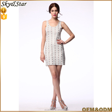 Ladies casual sexy beaded sundress
