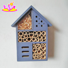 2017 New products handmade bee house natural wooden insect house W06F029
