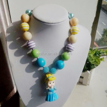 2015 costume jewelry little girls wholesale pendant necklace chunky bubblegum necklace beaded necklace for kids