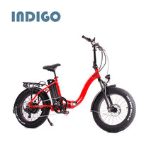 Mini folding electric bike with fat tire suspension fork foldable bicycle