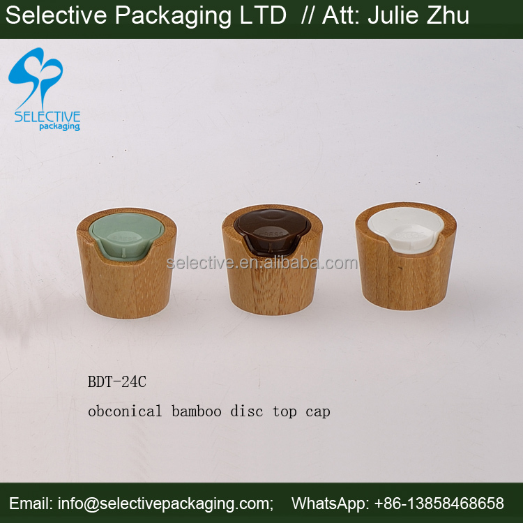 2014 new product natural obconical disc top cap bamboo bottle cap/wooden bottle cap/bamboo bottle lid