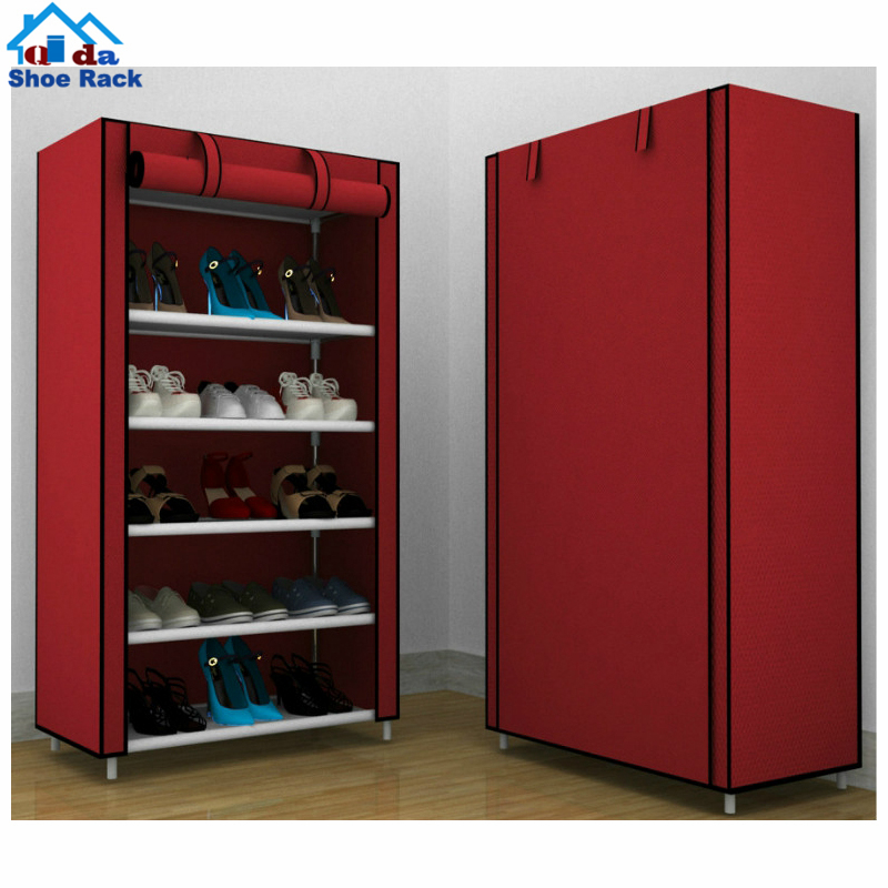100 pair hanging wall metal foldable shoe rack storage